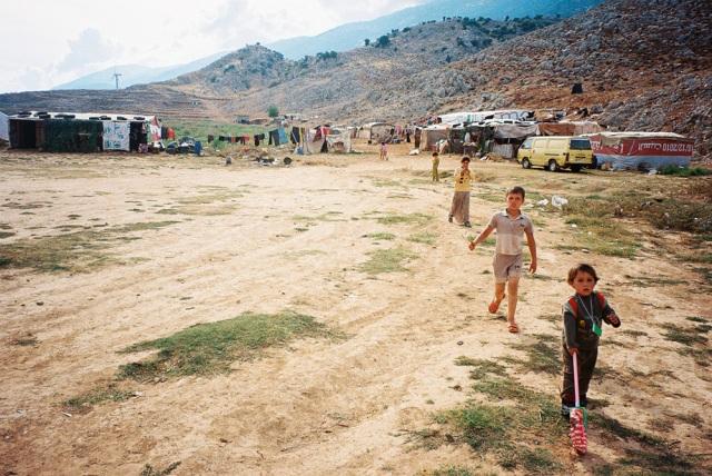 A Bedouin settlement outside of Zahle, Bekaa valley, Lebanon