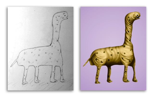 Giraffosaur by Yousef & Jorgen